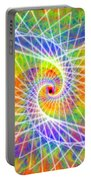 Cosmic Spiral Ascension 03 Portable Battery Charger