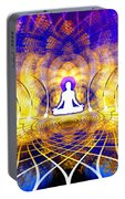 Cosmic Spiral Ascension 18 Portable Battery Charger by Derek Gedney