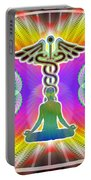 Cosmic Spiral Ascension 21 Portable Battery Charger