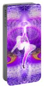 Cosmic Spiral Ascension 27 Portable Battery Charger
