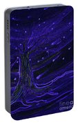 Cosmic Tree Blue Portable Battery Charger