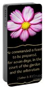 Cosmos Flower With Bible Quote From Esther Portable Battery Charger
