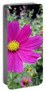 Cosmos In The Wild Garden Portable Battery Charger