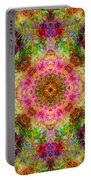 Cosmos Pink Sun Diamond Mandala Portable Battery Charger