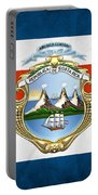 Costa Rica Coat Of Arms And Flag  Portable Battery Charger
