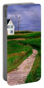 Cottage Among The Dunes Portable Battery Charger by Edward Fielding