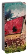 Cottage By The Sea - Abstract Realism Portable Battery Charger