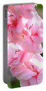 Cotton Candy Gladiolus Portable Battery Charger