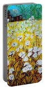 Cotton Fields Back Home Portable Battery Charger by Eloise Schneider