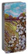 Cotton Fields In Autumn Portable Battery Charger by Eloise Schneider