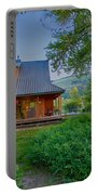 Cottonwood Cottage At Sunset Portable Battery Charger