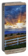 Country Beams Of Light Pealing Picture Window Frame Vie Portable Battery Charger