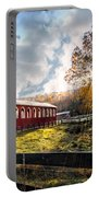 Country Covered Bridge Portable Battery Charger by Debra and Dave Vanderlaan