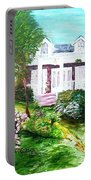 Country Estate In Spring Portable Battery Charger