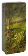 Country - Fence - County Border  Portable Battery Charger by Mike Savad