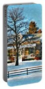 Country Home Watercolor Portable Battery Charger