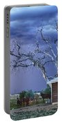 Country Horses Lightning Storm Ne Boulder County Co Hdr Portable Battery Charger by James BO  Insogna