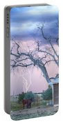 Country Horses Riders On The Storm Portable Battery Charger