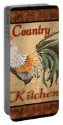 Country Kitchen Rooster Portable Battery Charger