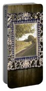 Country Lane Reflected In Mirror Portable Battery Charger by Amanda Elwell