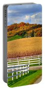 Country Lane Portable Battery Charger by Frozen in Time Fine Art Photography