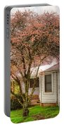 Country Pink Portable Battery Charger by Debra and Dave Vanderlaan