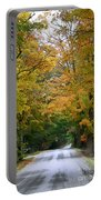 Country Road Fall Vermont Portable Battery Charger