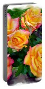 Country Roses Watercolor Portable Battery Charger