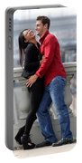 Couple Laughing Portable Battery Charger