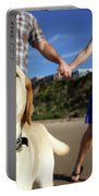 Couple Take Their Dogs For A Walk Portable Battery Charger
