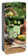 Courgette Basket With Garden Tools Portable Battery Charger