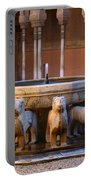 Court Of The Lions In The Alhambra Portable Battery Charger