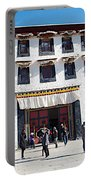 Courtyard Entry To Potala Palace In Lhasa-tibet Portable Battery Charger