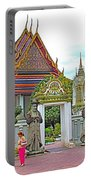 Courtyard In Wat Po In Bangkok-thailand Portable Battery Charger