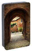 Courtyard Of Cathedral Of Ste-cecile In Albi France Portable Battery Charger