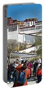 Courtyard Of Potala Palace In Lhasa-tibet Portable Battery Charger