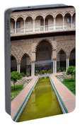 Courtyard Of The Maidens In Alcazar Palace Of Seville Portable Battery Charger