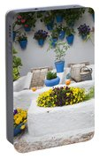 Courtyard With Washing Boards Portable Battery Charger