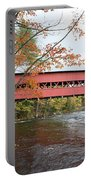 Covered Bridge Over Swift River Portable Battery Charger