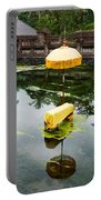 Covered Stones With Umbrella In Ritual Portable Battery Charger