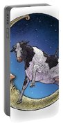 Cow And Moon Portable Battery Charger