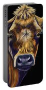 Cow Art - Lucky Number Seven Portable Battery Charger