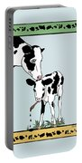 Cow Artist Cow Art Portable Battery Charger