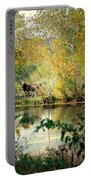 Cow By The Pond Portable Battery Charger