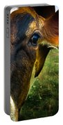 Cow Eating Grass Portable Battery Charger