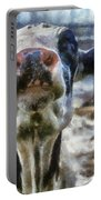 Cow Kiss Me Photo Art Portable Battery Charger