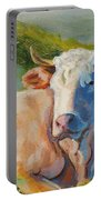 Cow Lying Down  Portable Battery Charger