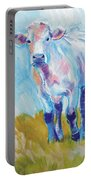 Cow Painting Portable Battery Charger