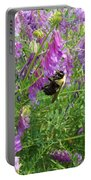 Cow Vetch Wildflowers And Bumble Bee Portable Battery Charger