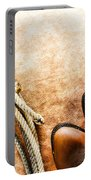 Cowboy Boots And Lasso Portable Battery Charger